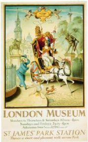 Vintage London underground poster - St. James's park